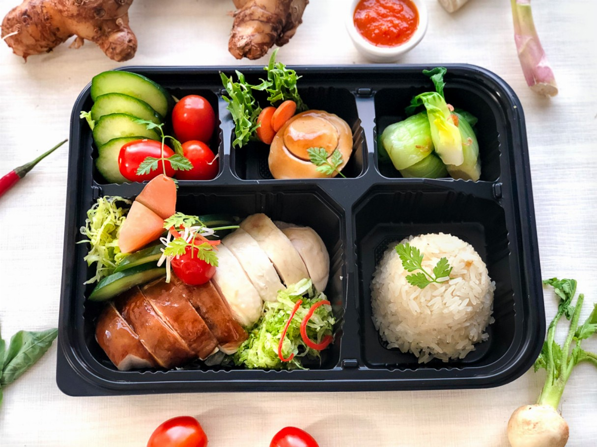 "Roost's Yin Yang Chicken Rice ""Bento"""
